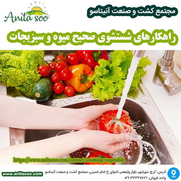 راهکارهای شستشوی صحیح میوه و سبزیجات